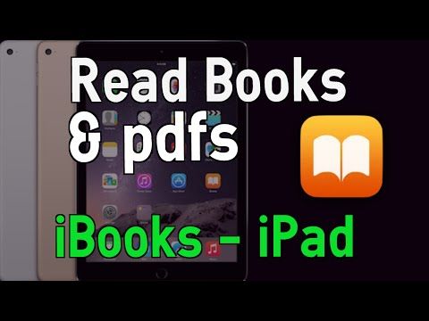 Read Books and pdfs using iBooks on the iPad