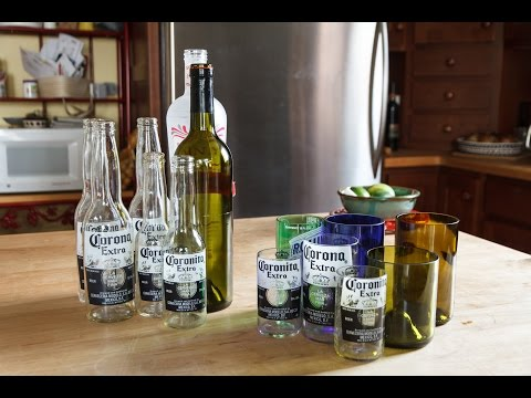 Update: Cut Bottles into Glasses Video - Cutting Wine & Beer Bottles into Glasses