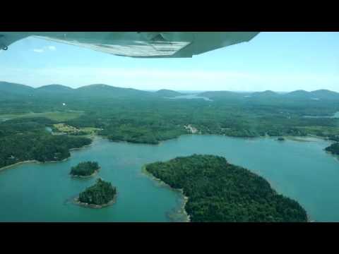 Flying around Bar Harbor Maine