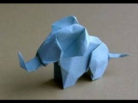 Origami Animals - How to make an Origami Elephant step-by-step