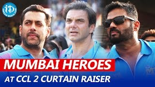 Mumbai Heroes Team Introduction at CCL 2 Curtain Raiser | Salman Khan, Sunil Shetty, Sohail Khan