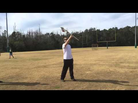 How to hold the lacrosse stick Riptide training