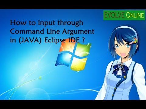 How to input from keyboard through Command-line Argument in Java(in Eclipse IDE )?