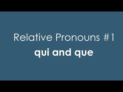 Xxx Mp4 French Relative Pronouns 1 Qui And Que 3gp Sex
