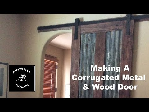 How to build a sliding barn door with corrugated metal panels