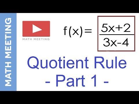Quotient rule - Derivatives Calculus