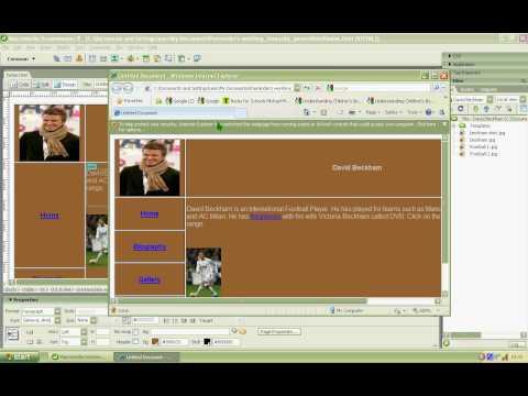 Creating an External Link in Dreamweaver.avi