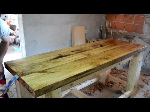 Making a Solid Oak Top Wooden Workbench