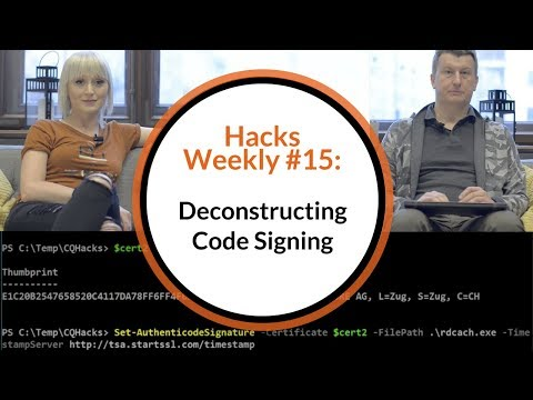 Hacks Weekly #15: Deconstructing Code Signing - how to get the certificate, sign a code and verify?