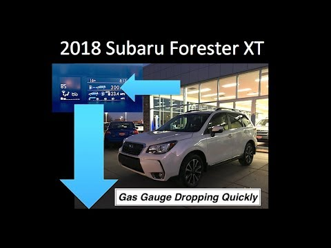 2018 Subaru Forester XT Gas Gauge Dropping Fast