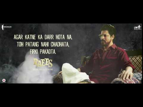 Raees Ki Dialogue Baazi | Fearlessly Like Raees | Shah Rukh Khan | Releasing 25 January