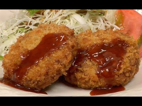 Menchi-katsu Recipe (Deep-Fried Breaded Ground Meat) | Cooking with Dog