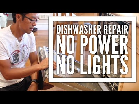 KitchenAid Dishwasher Repair - No Power, No Lights and Grinder Clean up
