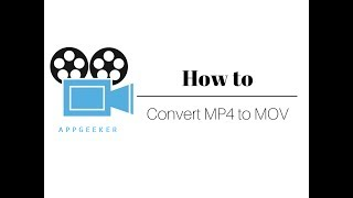 How To Make Video Conversion from MP4 to MOV on Mac - Tutorial