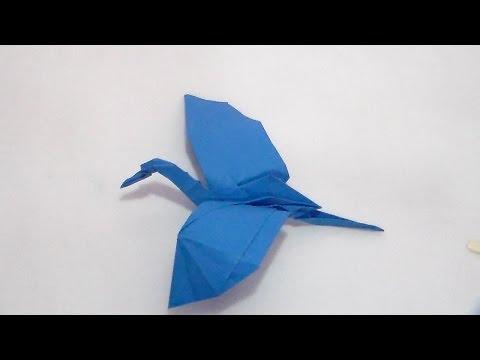 Origami Crane in Flight (HD)