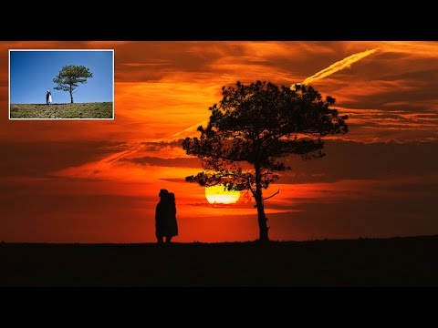 How to Create Silhouette Effect in Photoshop - Change Photo into Awesome Sunset Silhouettes