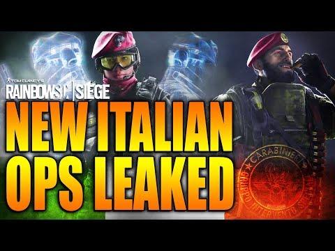 Rainbow Six Siege - In Depth: NEW ITALIAN OPS LEAKED - MAESTRO & ALIBI!