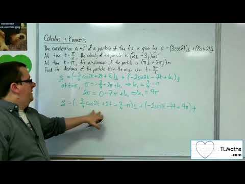 A-Level Maths 2017 Q4-12 Calculus in Kinematics: 2D Example 5