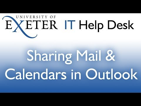 Outlook: Sharing mail and calendar folders