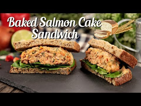 How to make Baked Salmon Cake Sandwich