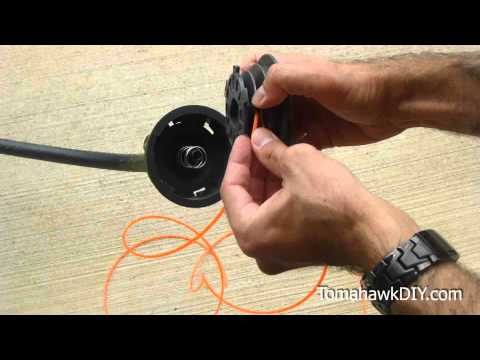 How to Reload Trimmer String (weed wacker line)