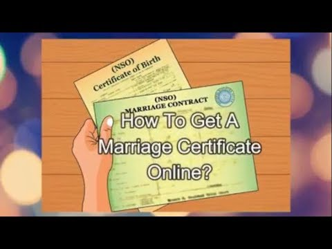 How To Get Marriage Certificate Online - NSO Philippines