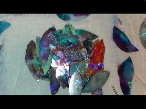How To Paint Cds With Tim Holtz Adirondack Alcohol Inks And Acrylic Paint (Episode 03)