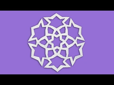 Learn How To Make Paper Snowflakes -  Easy Origami Snowflakes Tutorial