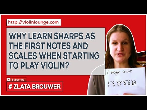 The First Notes and Scales You Learn on the Violin (why those sharps?)