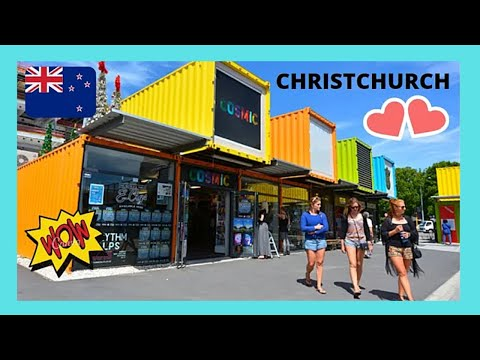 CHRISTCHURCH, shipping containers create a SHOPPING MALL, New Zealand (START CITY MALL)