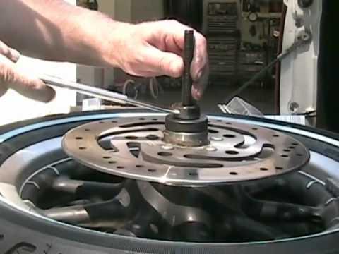 Harley Davidson Wheel Bearing Change and Tire Information.avi