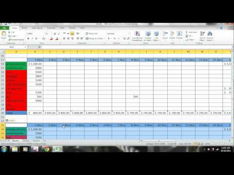 EXCEL - How to Make a Budget - PART 3 - Personal Finance - TUTORIAL - www.subjectmoney.com