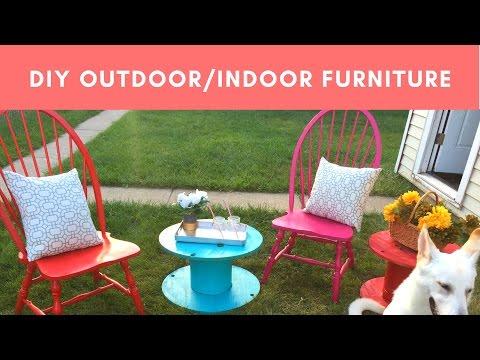 $20 Outdoor/Indoor Furniture Makeover (Super Easy DIY Edition)