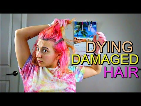 DYING DAMAGED HAIR... The Healthy Way.