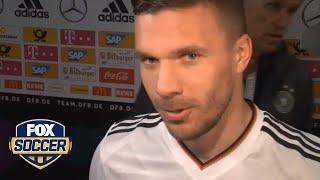 Podolski on his stunning farewell goal against England | FOX SOCCER