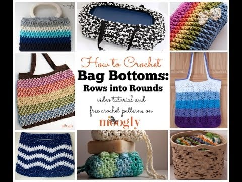 How to Crochet: Bag Bottoms: Rows to Rounds