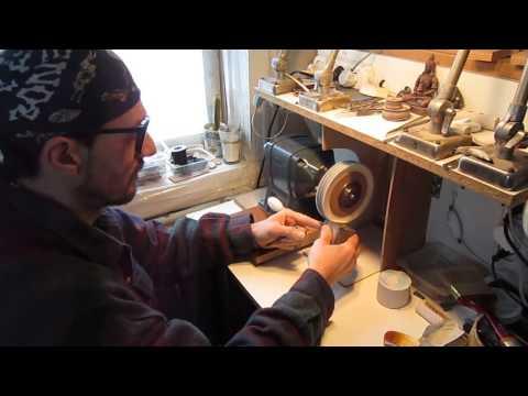 Horn Jewelry Polishing process by Alex Grebin