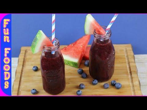 Watermelon & Blueberry Smoothie | Healthy Dessert