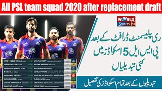 All PSL team squad 2020   Big changes in PSL 5 squad   PSL replacement draft 2020