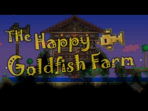 Terraria - Goldfish Farm (and Mushroom!)