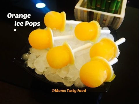 Orange Popsicles |  Fresh Orange Juice Popsicles Recipe | Homemade Orange Popsicles |Summer Recipes