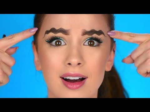 WAVY EYEBROWS?! | Trying New Viral Instagram Trend
