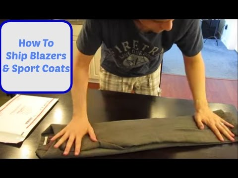How To Ship Blazers and Sport Coats, Ebay Selling Tips