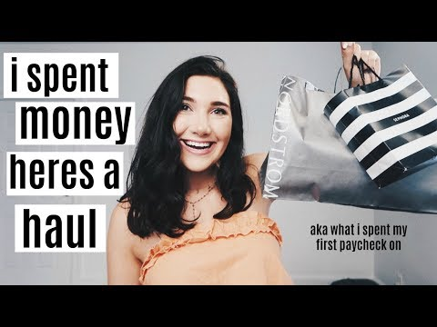 summer haul!! | how i spent my first paycheck $$$$