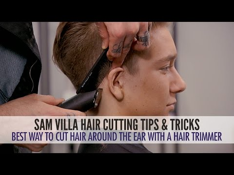 Best Way To Cut Hair Around The Ears With a Hair Trimmer