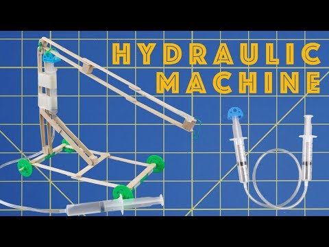 Easy Hydraulic or Pneumatic Machine - Engineering Projects for Kids