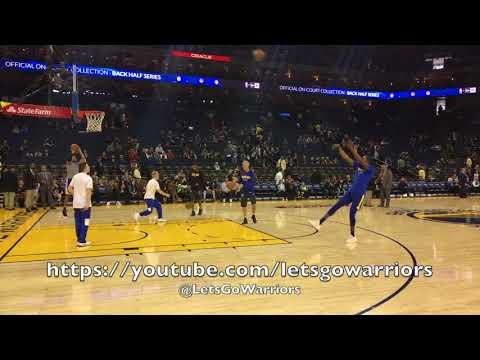 Kevin Durant pregame shooting routine at Oracle Arena before Warriors vs Utah Jazz
