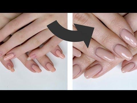 NAIL TRANSFORMATION!! DIY Gel Nails At Home!