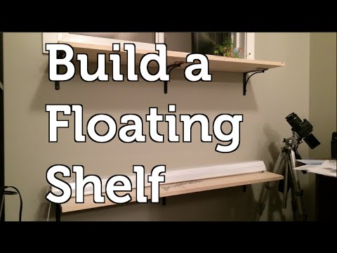 How to install a DYI Floating Shelf for a Vertical Wall Garden