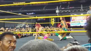 NXT Asuka vr Peyton Royce at wrestlemania 32 party in Dallas TX
